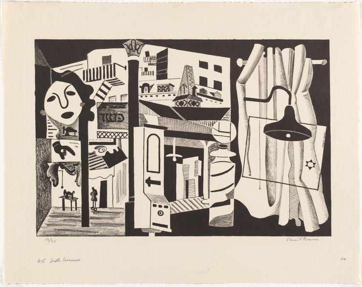 Stuart Davis - Sixth Avenue El - Windsor Gallery