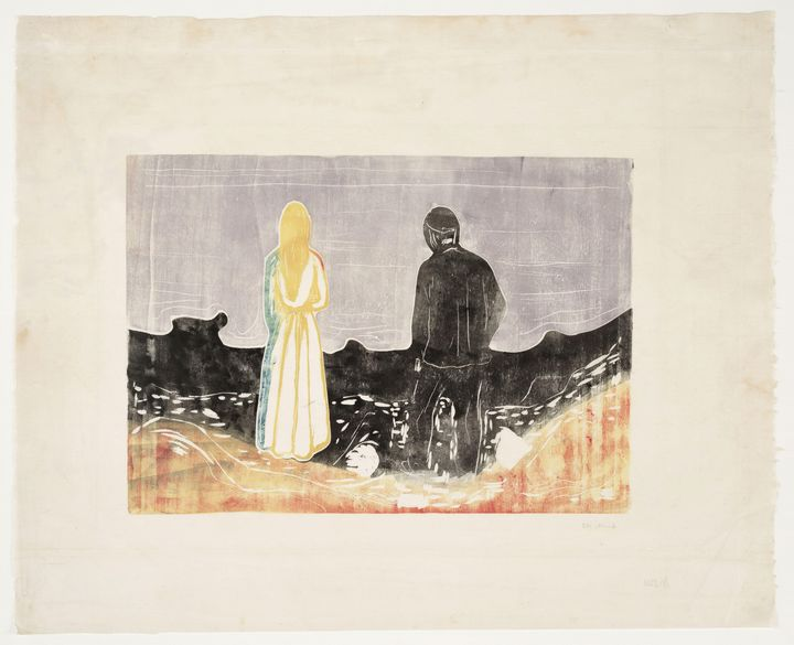 """Edvard Munch """"Two People The Lonely"""" - Windsor Gallery"""
