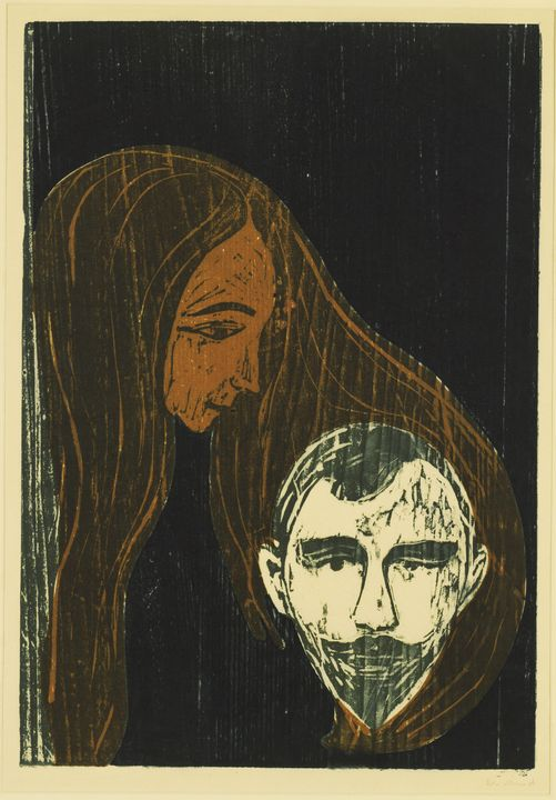 "Edvard Munch ""Man's Head in Woman's"" - Windsor Gallery"