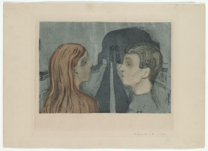 Edvard Munch Attraction II 1895 - Windsor Gallery