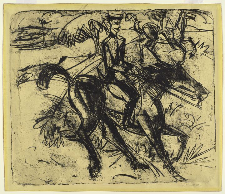 Ernst Ludwig Kirchner Evening Patrol - Windsor Gallery