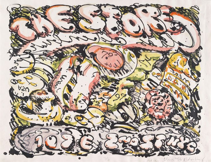 """Claes Oldenburg - """"Store Poster"""" - Windsor Gallery"""