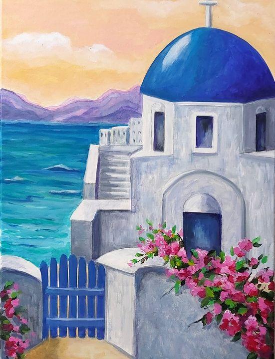 Santorini - Painting is my Passion