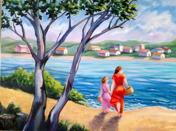 Perfect Day for A Picnic - Painting is my Passion