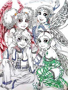 Elemental fairy family
