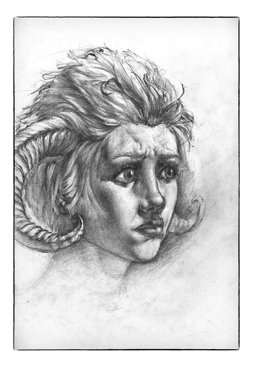 Girl with horns - Mario Varelis