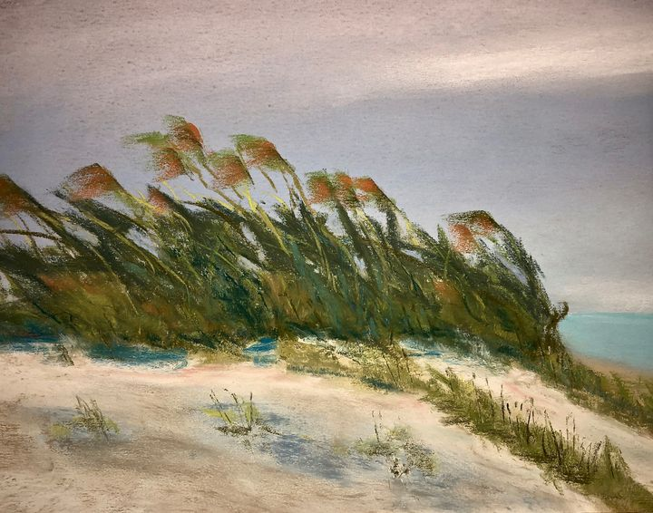 Breezy Day in the Dunes - Howard Keith Clark