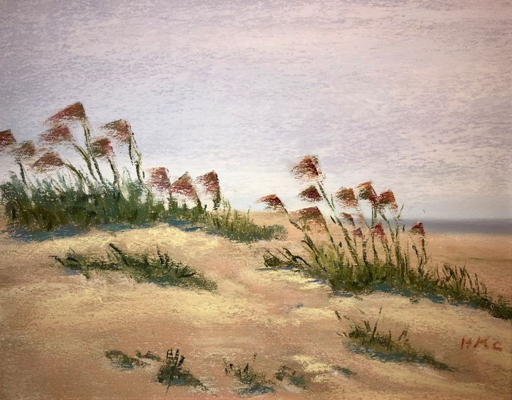 Playing in the Dunes-Galveston - Howard Keith Clark