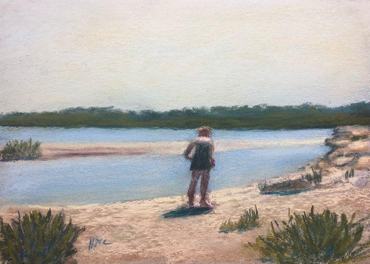 Galveston East Beach-High Noon - Howard Keith Clark