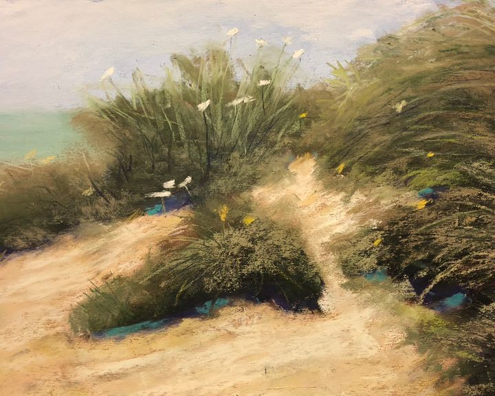 White Flowers in the Dunes - Howard Keith Clark