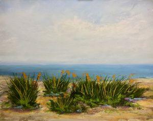 Calm Day at the Beach-Galveston - Howard Keith Clark