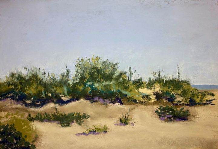 Dune Over Looking the Gulf - Howard Keith Clark
