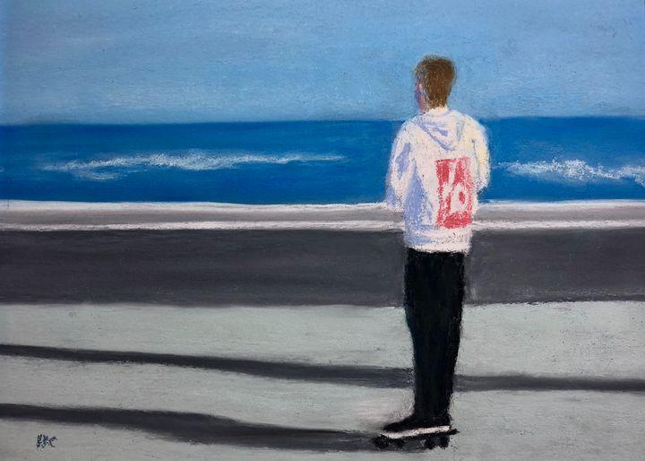 Skateboarding the Seawall - Howard Keith Clark