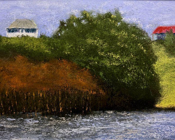 Fishing Camp on the Bayou - Howard Keith Clark
