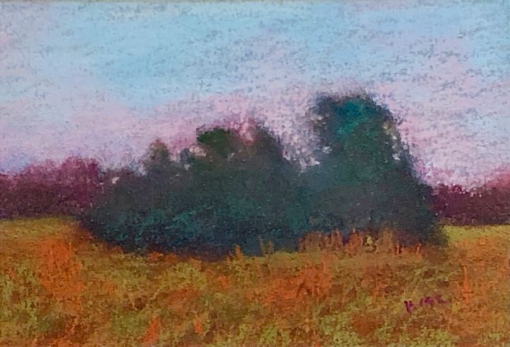 Study of a Crop of Trees at Evening - Howard Keith Clark