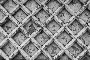 Old reinforced concrete fence