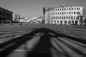 Ferris wheel shadow