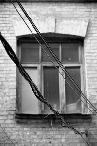 Window with wires