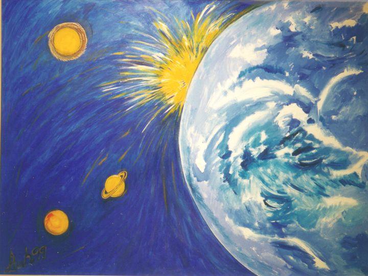 Galaxies Collide - Leah Lubin