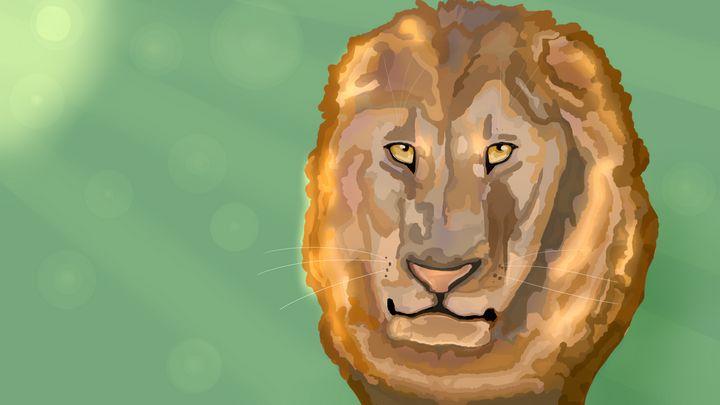 Golden lion - DanielleArt
