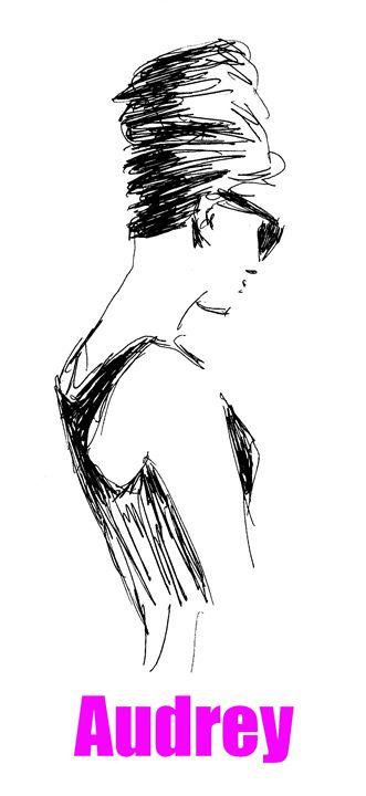 Audrey Hepburn - Printable Drawings