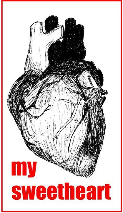 my sweetheart funny design - Printable Drawings