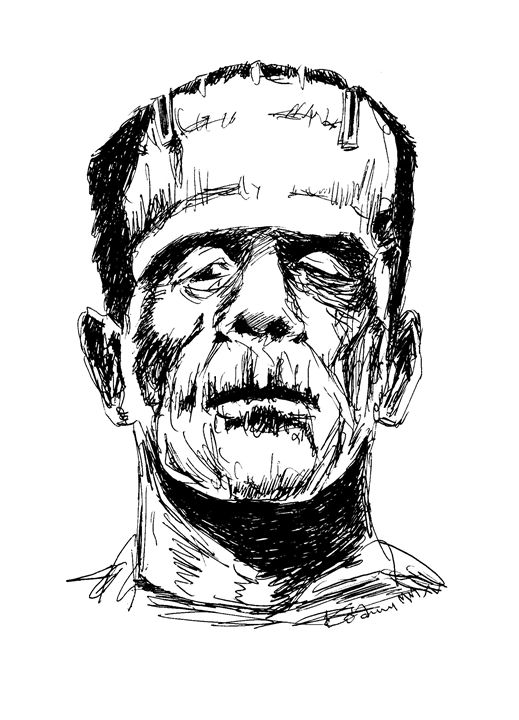 Frankenstein - Movie Character - Printable Drawings