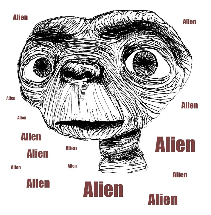 E.T. SF Movie Character - Printable Drawings