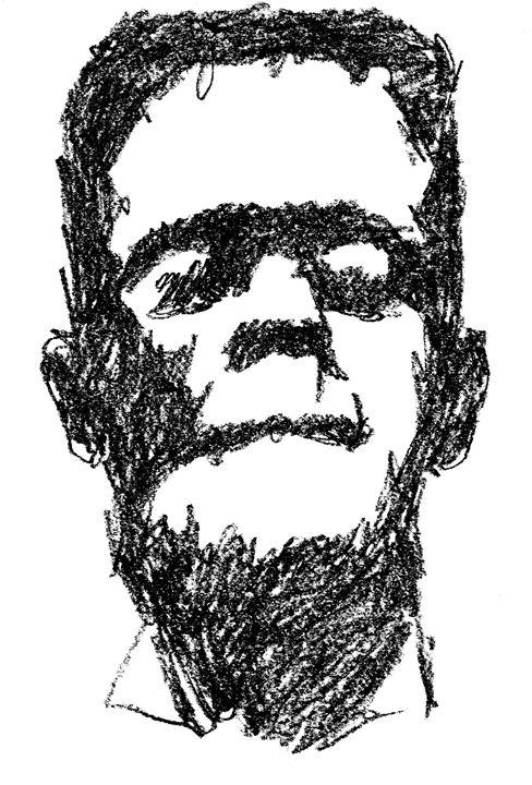 Frankenstein Sketch - Printable Drawings