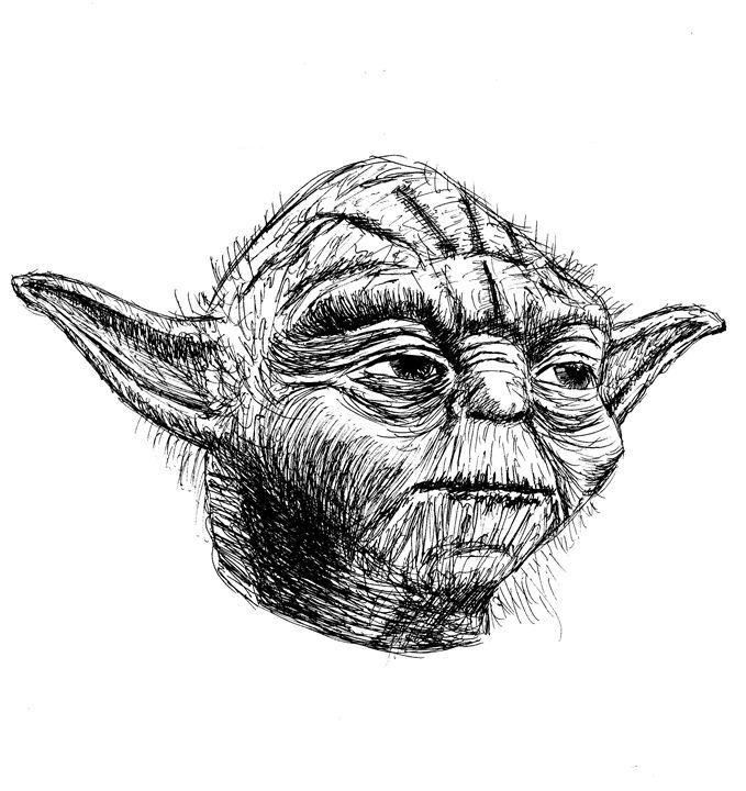 Yoda, Star Wars Character - Printable Drawings