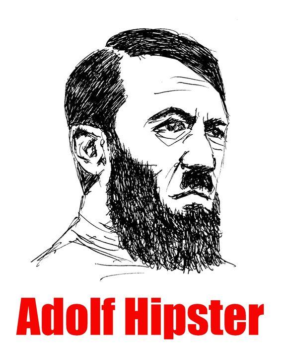 Adolf Hipster - Printable Drawings