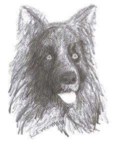 black dog - Printable Drawings