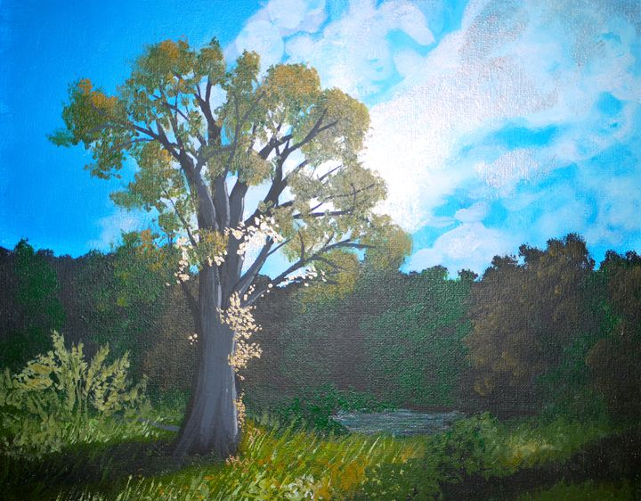 Tree by the Pond - Sue and Frank's Art Gallery