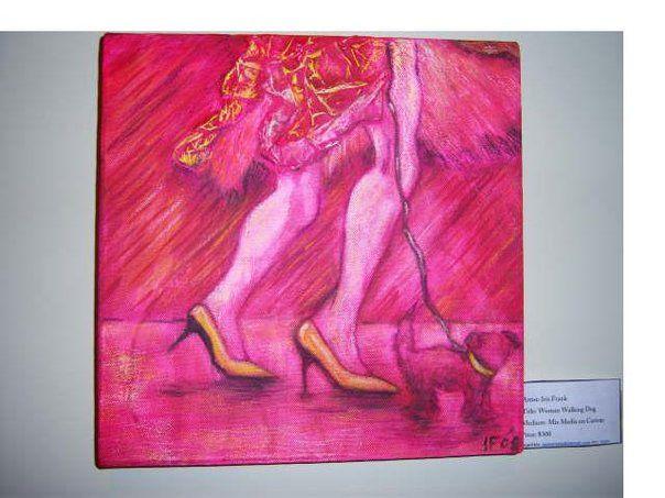 Woman Walking her dog - Iarty