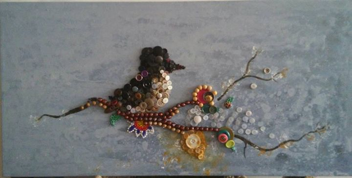 Flowers, Bird, Buttons and Beads - Iarty