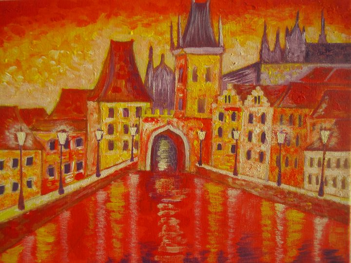 Prague. The Charles Bridge - Irena Silecka