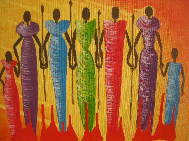 African family - Irena Silecka