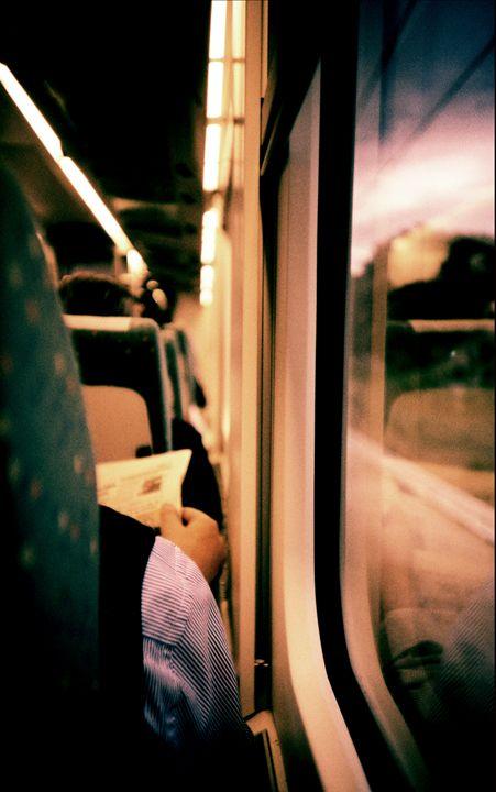 Man on train - Lomo LCA xpro - edwardolive