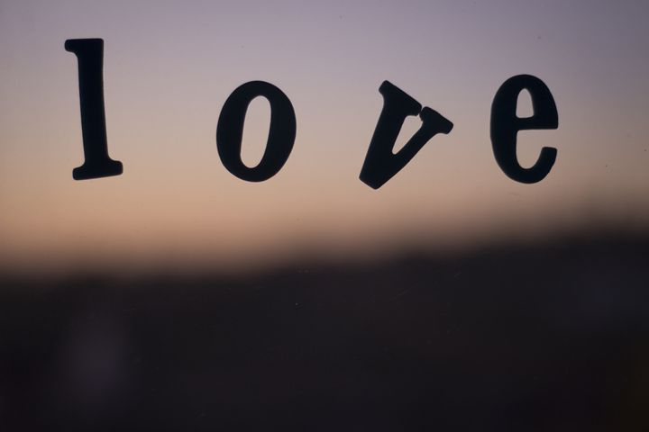 Love word abstract photograph - edwardolive