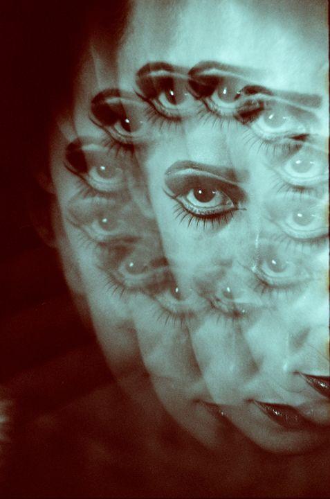 Multiple image of eye of young woman - edwardolive