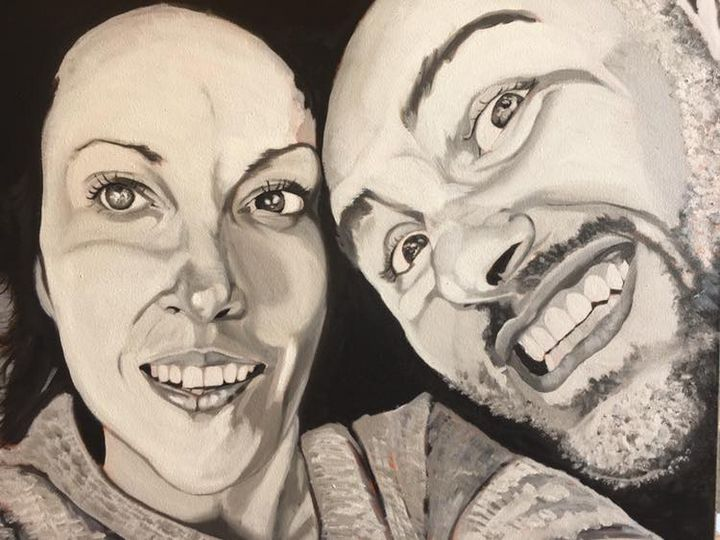 Double portrait in oil on canvas - Freelance Commission Artist Miguel