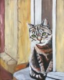 Oil Painting of a Kitty