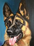 Oil Painting German Shepherd