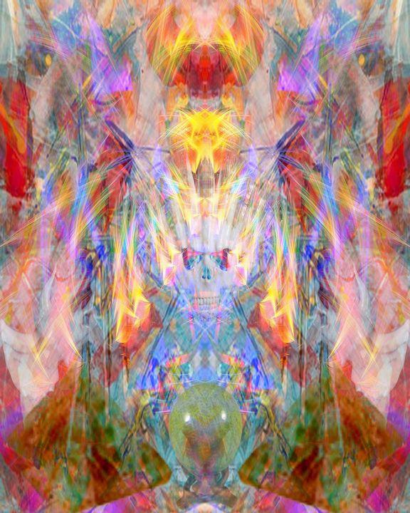 Wind Blown Skull - CrystalWolfe Blends