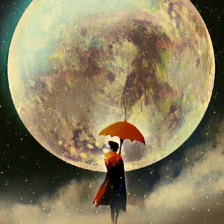 Man with umbrella - Heena Patel