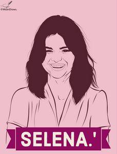 Selena Gomez-Digital Art.