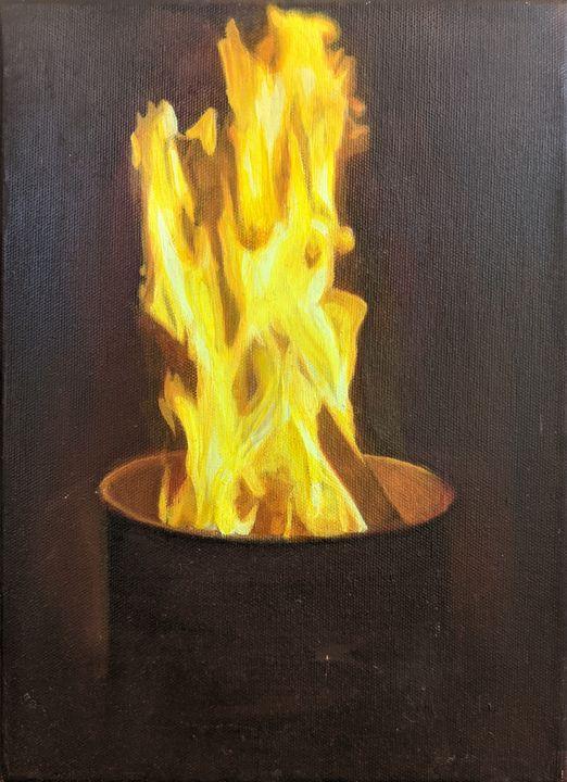 Trash Can Fire - Edward Escarsega