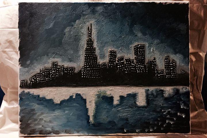 Cityscape at Night - Shaina Flores