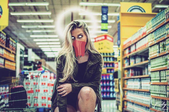 stranger in the super market - Fady designs