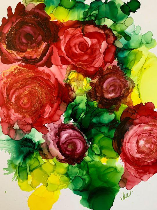 Red Rose Garden - DcCreations64